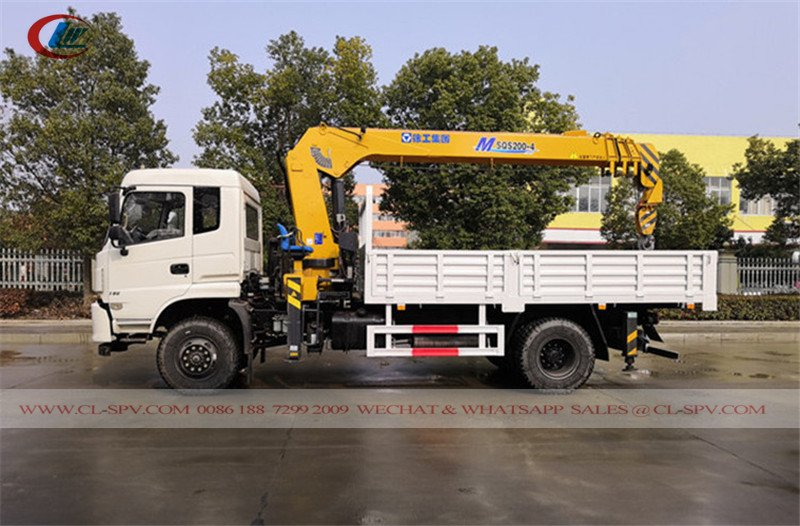 Dongfeng truck with xcmg crane
